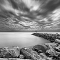 Oceanside Harbor Jetty 2 Print by Larry Marshall