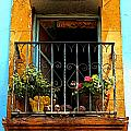 Ochre Window in Turqoise Poster by Olden Mexico