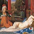 Odalisque with Slave Poster by Jean-August-Dominique Ingres