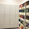 Office Cabinets and Colorful Files Print by Jetta Productions, Inc