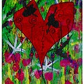 Oh My Green Heart Print by Donna Daugherty