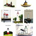 Ohio Lighthouses Collage Poster by Michael Vigliotti