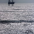 Oil Platform Poster by Arno Massee