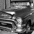 Old American GMC Truck . 7D10665  . bw Print by Wingsdomain Art and Photography