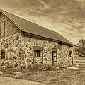 Old Barn - Sepia Print by Scott Norris