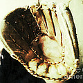 Old Baseball Glove Print by Ruby Hummersmith