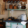 Old Cook Stove Poster by Carmen Del Valle