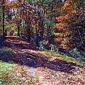 Old Farmhouse Road Print by David Lloyd Glover