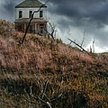 Old Farmhouse with Stormy Sky Poster by Jill Battaglia