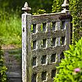 Old Garden Entrance Print by Heiko Koehrer-Wagner
