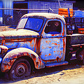 Old junk truck Print by Garry Gay