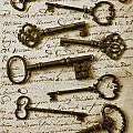 Old keys on letter Poster by Garry Gay