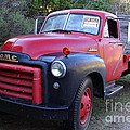 Old Nostalgic American GMC Flatbed Truck . 7D9821 Poster by Wingsdomain Art and Photography
