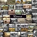 Old Rome Collage Poster by Janos Kovac