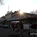 Old Sacramento California In Partial Silhouette . 7D11719 Poster by Wingsdomain Art and Photography