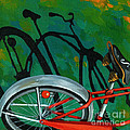Old Schwinn Print by Linda Apple