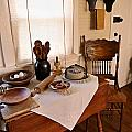 Old Time Kitchen Table Print by Carmen Del Valle