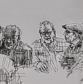 Old-Timers  Print by Ylli Haruni