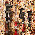 Old tools on rusty counter  Poster by Garry Gay