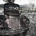 Old Truck in Napa Valley Poster by George Oze