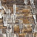 Old Wood Shingles on Building, Mendocino, California, CA Print by Paul Edmondson