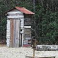 Oldtime Outhouse - Digital Art Poster by Al Powell Photography USA