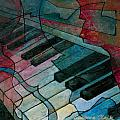 On Key - Keyboard Painting Print by Susanne Clark