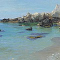 On the Capri Coast Print by Paul von Spaun