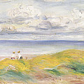 On the Cliffs Poster by Pierre Auguste Renoir