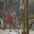 One of the Soldiers with a Spear Pierced His Side Print by Tissot