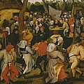 Open air wedding dance Print by Pieter the Younger Brueghel