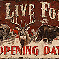 Opening day Sign Poster by JQ Licensing