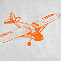 Orange Plane 2 Print by Irina  March