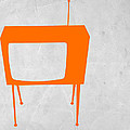 Orange TV Print by Naxart Studio