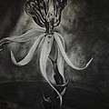 Orchid in Black-and-White Print by Estephy Sabin Figueroa