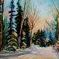 ORMSTOWN QUEBEC WINTER ROAD Print by CAROLE SPANDAU
