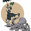 otto by the sea Poster by Brian Kesinger