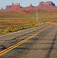 ouest USA route monument valley road Poster by Audrey Campion