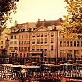 Outdoor Cafe in Lucerne Switzerland  Print by Susanne Van Hulst