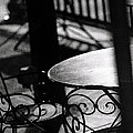 Outdoor Seating Print by Vicki Jauron