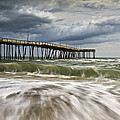 Outer Banks NC Avon Pier Cape Hatteras - Fortitude Print by Dave Allen