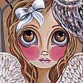 Owl Angel Print by Jaz Higgins