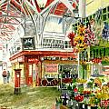 Oxford's Covered Market Print by Mike Lester