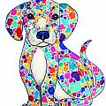 Painted Puppy Print by Nick Gustafson