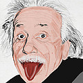 painting of albert einstein Print by Setsiri Silapasuwanchai