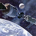 Painting Of Apollo-soyuz Test Project Poster by Everett