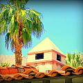 Palm Springs Pyramid Colonial Print by Randall Weidner