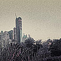 Panorama of Central Park - Old Fashioned Sepia Poster by Alex AG