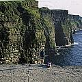 Panoramic View Of Cliffs, Cliffs Of Print by The Irish Image Collection