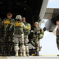 Paratroopers Gather Around The Back Print by Stocktrek Images